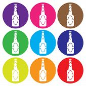 Beer Bottle  Icon Set Vector.eps