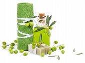 Spa Accessories And Green Olives