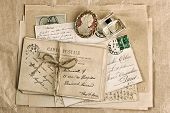 Old French Postcards And Accessories