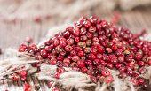 Pink Peppercorns (close-up Shot)