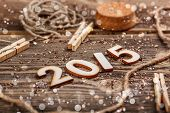 2015 Year Made Of Wood