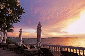 View On The Gulf Of Thailand At Sunset