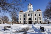 stock photo of illinois  - Old courthouse in Carthage  - JPG