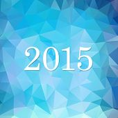 New year lights background. 2015 Year. Vector illustration.