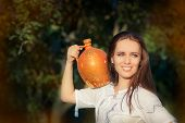 Young Woman with Clay Pitcher