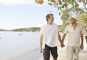 Travel: Gay couple on vacation holding hands