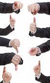 Set Of Businessman Finger Sign - Hand Gesture