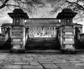 HDR vista do St Georges Hall de Liverpool, Reino Unido