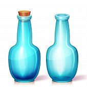 Vector illustration of glass flask