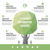Infographic Business Concept of Ecology with Icons