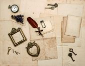 Vintage Accessories, Old Letters, Pages, Photo Frames
