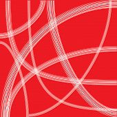 Abstract White Line On Red Background
