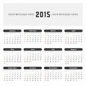 ?alendar 2015 year vector design template.