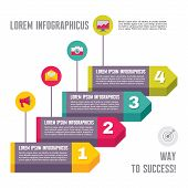 Infographic Business Concept - Steps Options - Vector Illustration in Flat Design Style