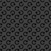 arrow Update web icon. flat design. Seamless pattern.