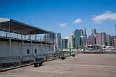 View Of Manhattan From Ferry Harbor In Brooklyn