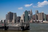 View Of Manhattan From Ferry Harbor In Brooklyn, New