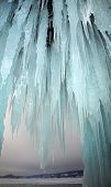 Lake Baikal with nice icicle