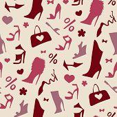 Women shoes. Seamless pattern.