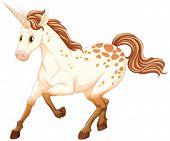 Illustration of a white unicorn