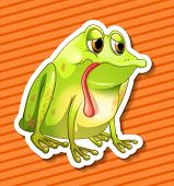 image of orange frog  - Illustration of a closeup frog with background - JPG