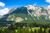 Beautiful Dolomite Mountains Near Cortina D'ampezzo ,pomagagnon Group, Sudtirol, Italy