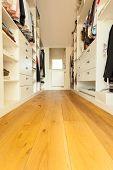 Walk-in Closet In Modern House