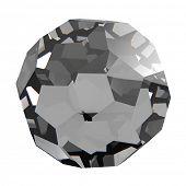 Diamond isolated on white background.