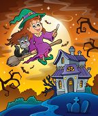 Haunted house theme image 9 - eps10 vector illustration.