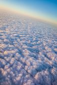 Sky and dense clouds from above