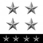 vector linear and dotted raster stars