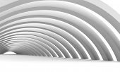 Creative shapes conceptual background. Abstract architectural wallpaper.