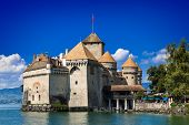 VEYTAUX, SWITZERLAND - September 6, 2014 - Castle Chillon one of the most visited castle in Switzerl