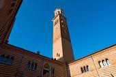 Lamberti Tower And Ragione Palcae - Verona Italy