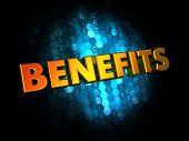 Benefits Concept on Digital Background.