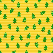 Christmas tree seamless background.  Eps10 vector format.
