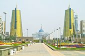Astana. Center Of City. Nurzhol Boulevard