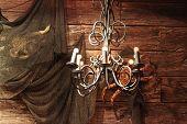 stock photo of light fixture  - Vintage light fixture  - JPG