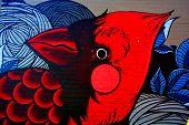 Street art Montreal cardinal
