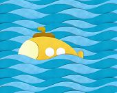Submarine Over The Sea