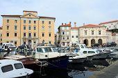 Harbor of Piran in Slovenia