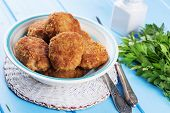 Cutlets On Plate