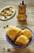 pic of baklava  - baklava with pistachio - JPG