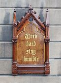Decorative Wooden Sign - Work Hard, Stay Humble