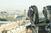 Demons Gargoyle Und Chimera From Notre Dame De Paris