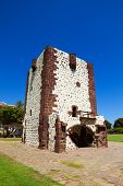 Torre del Conde Tower in sunny day at La Gomera island, Canary islands, Spain. It was built in 1450.