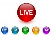live internet icons colorful set