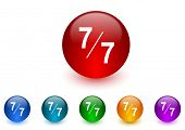 7 per 7 internet icons colorful set