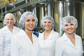 pic of pharmaceuticals  - portrait of female pharmaceutical factory worker in pharmacy industry manufacture factory - JPG