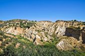 Badlands. Rocca Imperiale. Calabria. Italy.